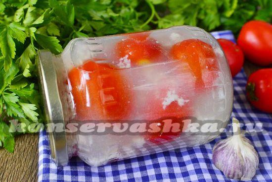 рецепт помидор в снегу