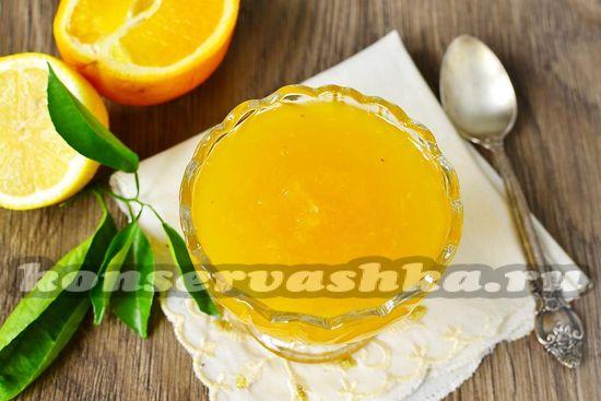 Апельсиновый джем в микроволновке - рецепт с фото
