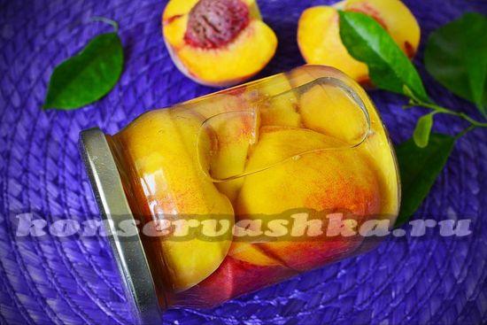 рецепт персиков в сиропе