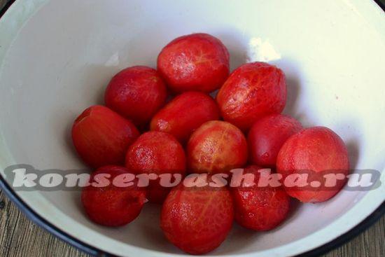 томаты очистить от кожуры