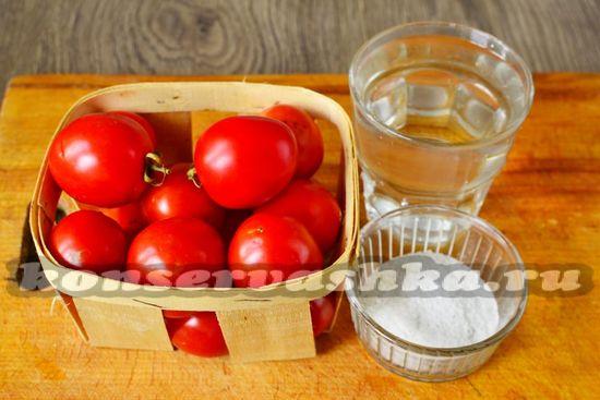 Ингредиенты для приготовления помидор