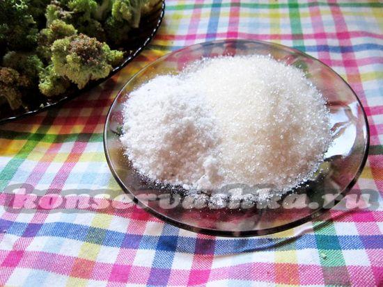 Отмерить сахар и соль