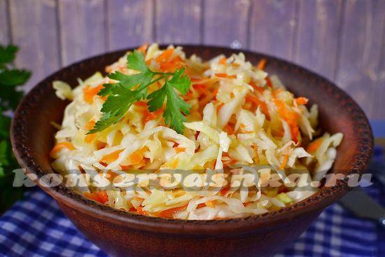 рецепт квашенной капусты за 10 минут
