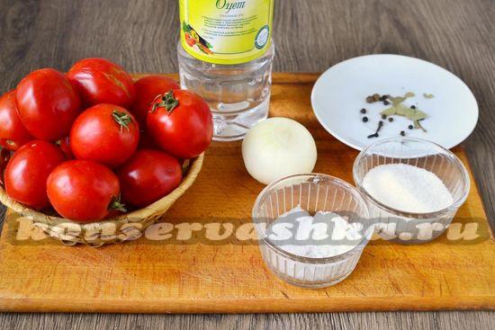Ингредиенты для приготовления томатной пасты