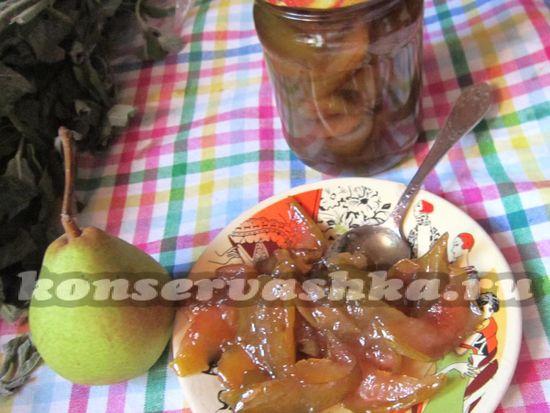 рецепт варенья дольками из груш