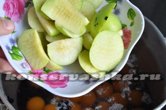 добавим яблоки