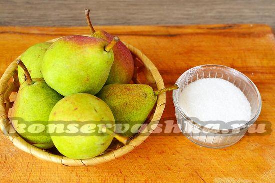 Ингредиенты для приготовления повидла из груш