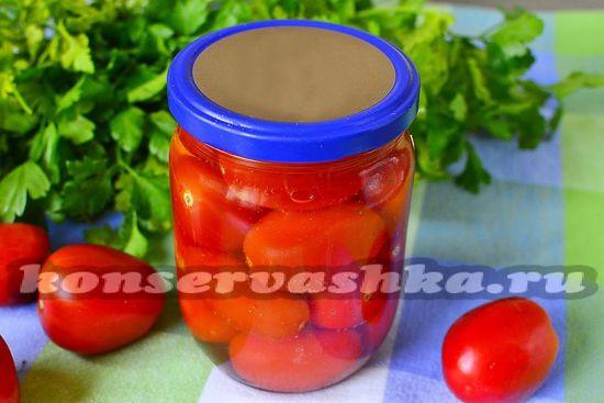 рецепт консервированных помидор с водкой