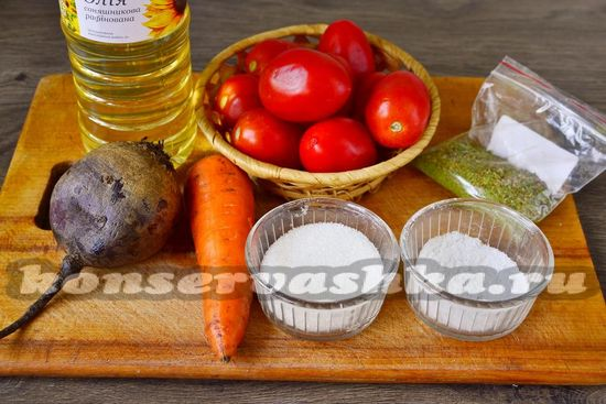 Ингредиенты для приготовления заправки