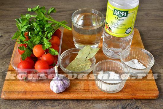 Ингредиенты для приготовления черри на зиму