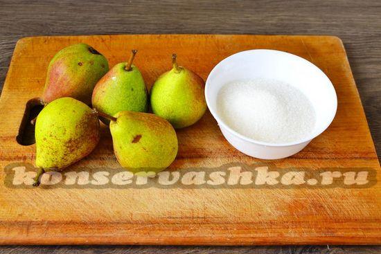 Ингредиенты для приготовления варенья из груш