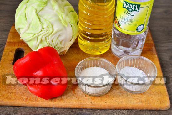 Ингредиенты для приготовления капусты по-провански