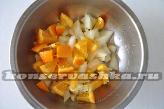 выложим к дыне апельсин
