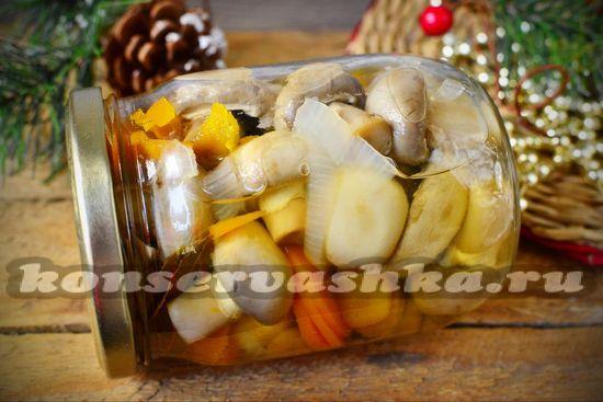 Маринованные шампиньоны - пошаговый рецепт с картинками