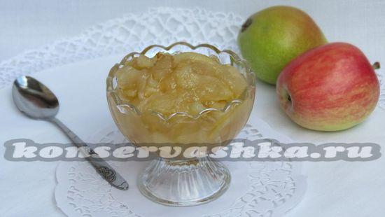 рецепт варенья из яблок и груш