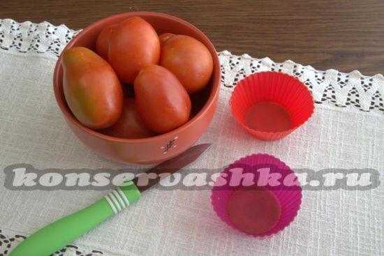 Ингредиенты для заморозки помидор