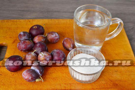 Ингредиенты для приготовления компота из слив