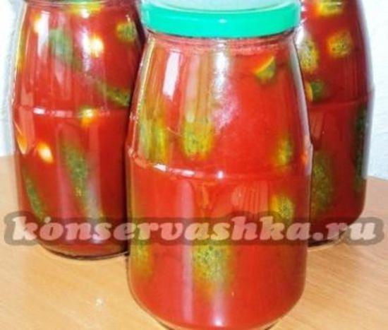 как готовить огурцы на зиму с томатной пастой