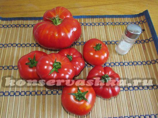 Ингредиенты для приготовления томатного сока