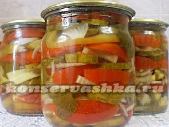рецепты ассорти с огурцами и помидорами