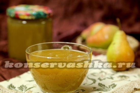 рецепт грушевого пюре