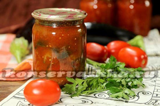 рецепт баклажан в томатном соке