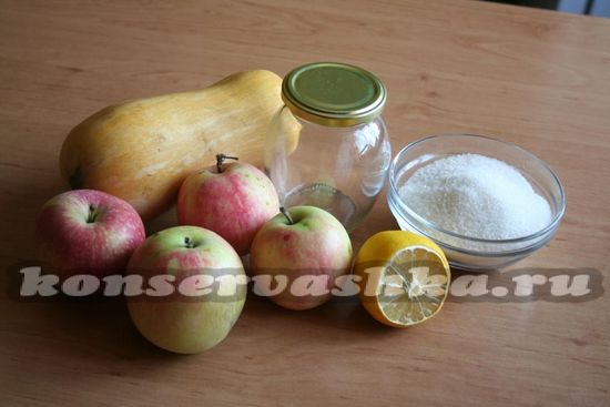 для приготовления повидла из тыквы и яблока нам понадобится