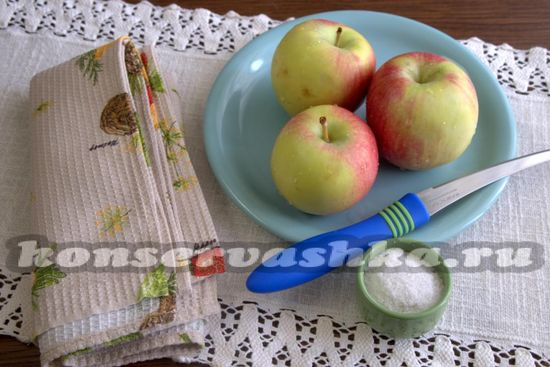 для сушки яблоко потребуеться