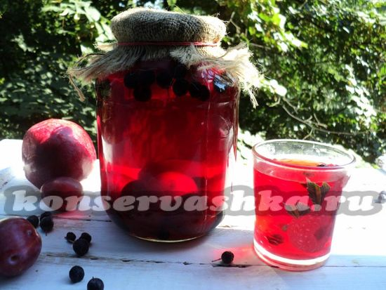 рецепт фруктово-ягодного компота на зиму