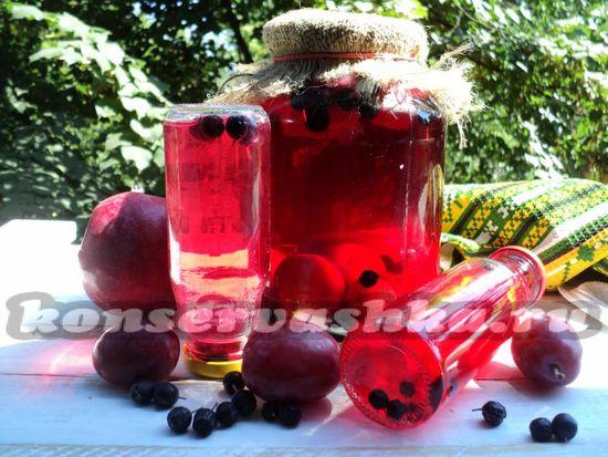 Фруктово-ягодный компот на зиму - рецепт с фото
