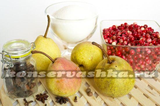 Ингредиенты для приготовления брусничного джема