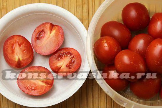 помидоры разрезать