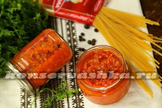 рецепт соуса из томатов к спагетти