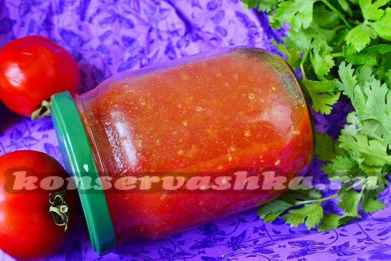 рецепт томатного соуса без стерилизации