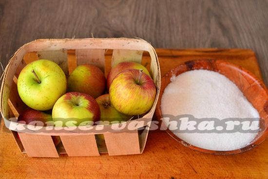 Ингредиенты для приготовления компота из яблок на зиму