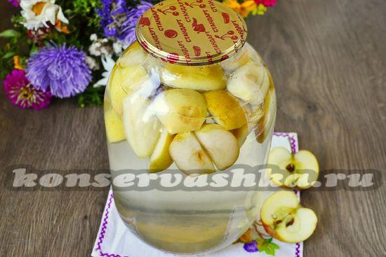 рецепт компота из яблок на зиму на 3 литровую банку