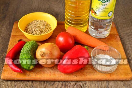 Ингредиенты для приготовления рассольника на зиму