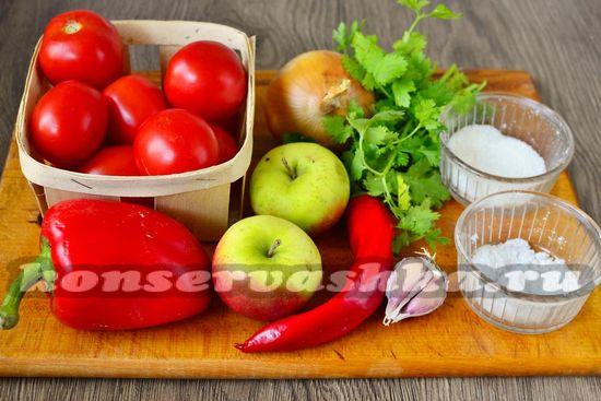 Ингредиенты для приготовления аджики