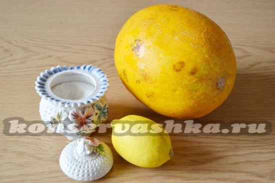 Ингредиенты для приготовления варенья из дыни