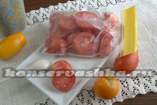 как заморозить томаты