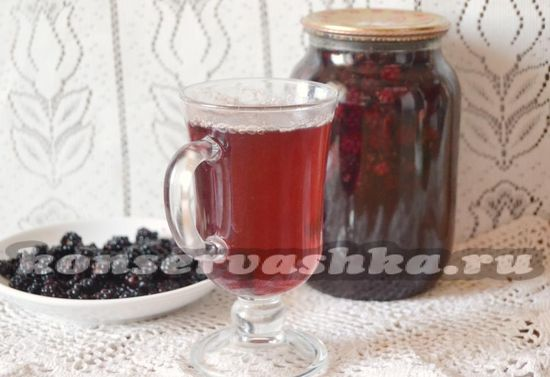 рецепт компота из ежевики на зиму