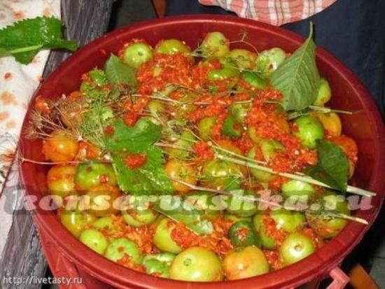 как приготовить зеленые помидоры на зиму