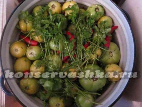 приготовленые зеленых помидоров пальчики оближешь