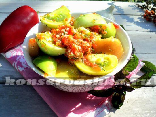 Зеленые помидоры по-корейски