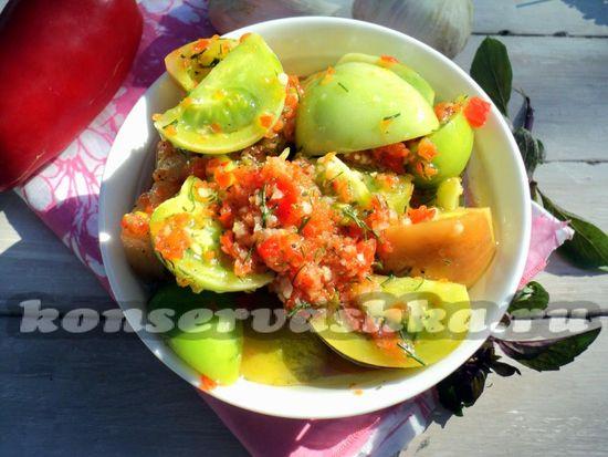 рецепт зеленых помидор по-корейски