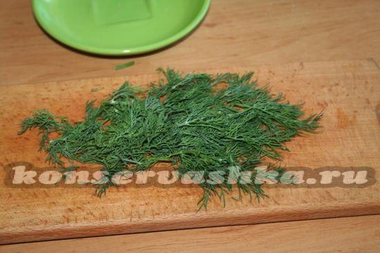 зелень нарезать