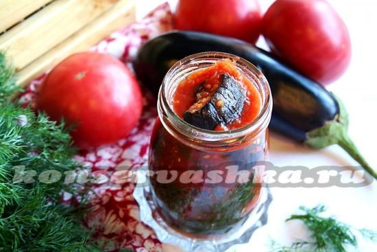рецепт баклажан в томатном соусе