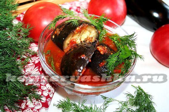 рецепт приготовления баклажан в томатном соусе