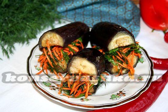 Маринованные баклажаны с овощами - рецепт с фото