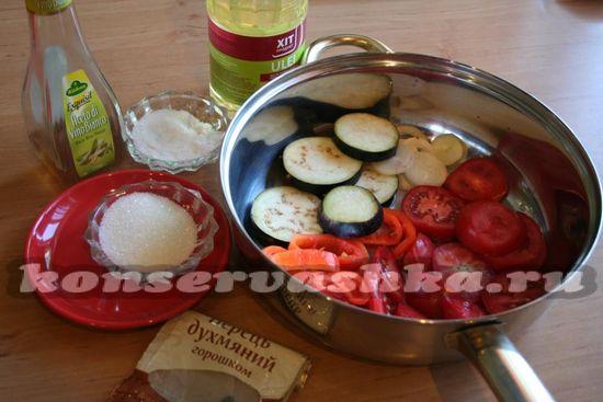 овощи помещаем в глубокую сковородку